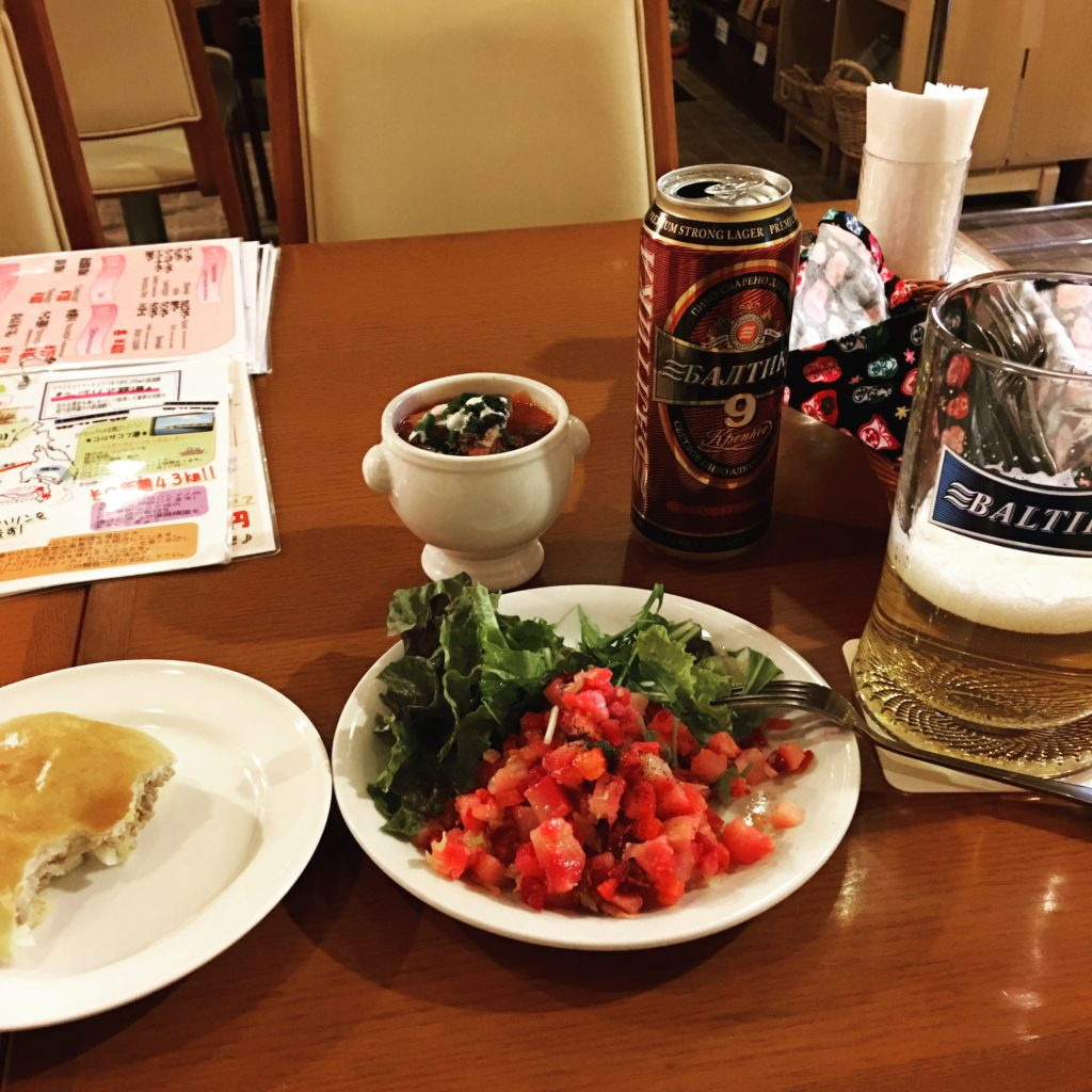 Russian food at Wakkanai